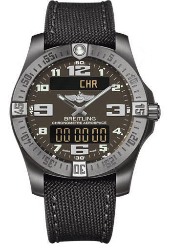 Breitling Watches - Aerospace Evo Military Strap - Tang Buckle - Style No: E7936310/F562/109W/A20BASA.1