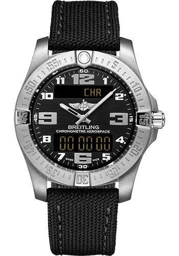 Breitling Watches - Aerospace Evo Military Strap - Tang Buckle - Style No: E79363101B1W1