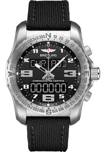 Breitling Watches - Cockpit B50 Titanium Case - Military Strap - Style No: EB5010221B1W1
