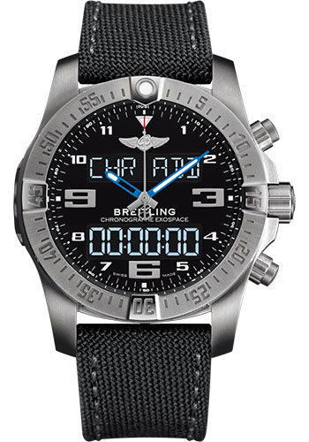 Breitling Watches - Exospace B55 Titanium - Military Strap - Style No: EB5510H2/BE79-military-anthracite-tang