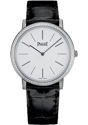 Piaget Watches - Altiplano Ultra-Thin - Mechanical - 38 mm - White Gold - Style No: G0A29165