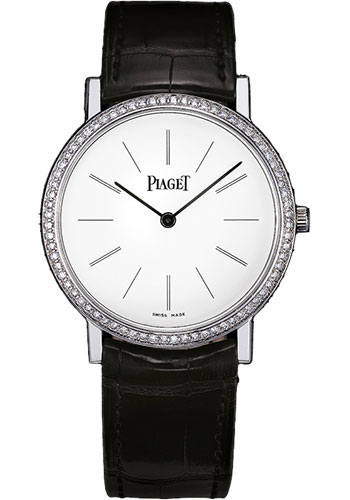 Piaget Watches - Altiplano Ultra-Thin - Mechanical - 34 mm - White Gold - Style No: G0A29167