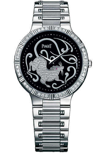 Piaget Watches - Dancer Ultra-Thin - 38 mm - White Gold - Onyx Zodiac - Style No: G0A32190
