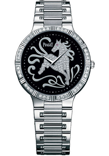 Piaget Watches - Dancer Ultra-Thin - 38 mm - White Gold - Onyx Zodiac - Style No: G0A32196