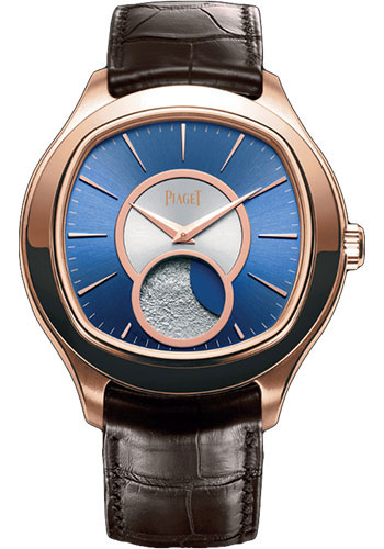 Piaget Watches - Black Tie Emperador Cushion-Shaped - Moon-Phases - Style No: G0A34022