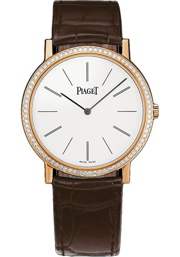 Piaget Watches - Altiplano Ultra-Thin - Mechanical - 38 mm - Rose Gold - Style No: G0A36125