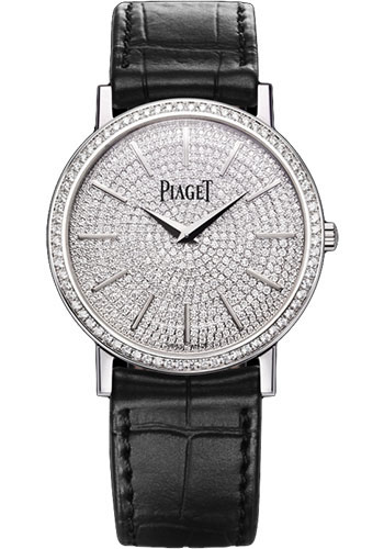 Piaget Watches - Altiplano Ultra-Thin - Mechanical - 34 mm - White Gold - Style No: G0A36128