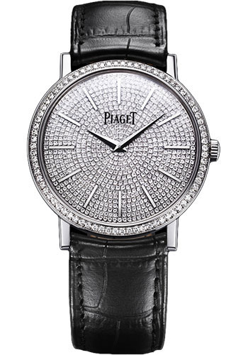 Piaget Watches - Altiplano Ultra-Thin - Mechanical - 38 mm - White Gold - Style No: G0A36129