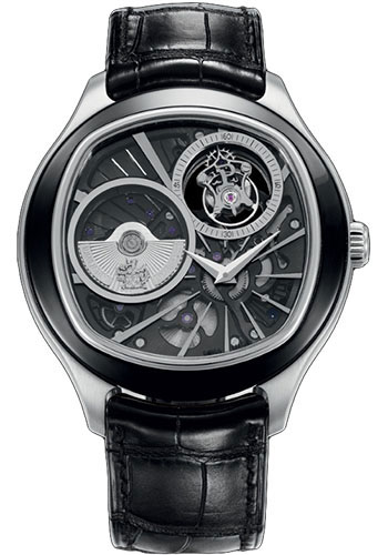 Piaget Watches - Black Tie Emperador Cushion-Shaped - Tourbillon - 46.5 mm - Style No: G0A38040