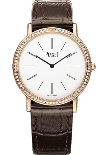 Piaget Watches - Altiplano Ultra-Thin - Mechanical - 34 mm - Rose Gold - Style No: G0A38127