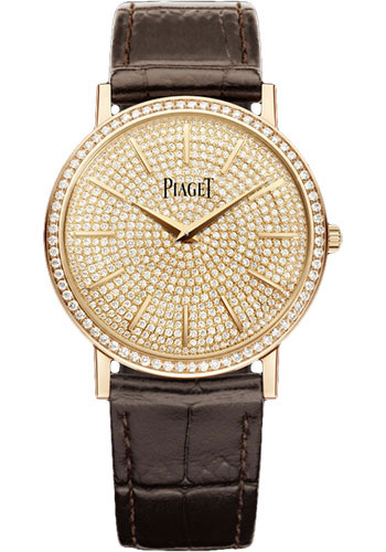 Piaget Watches - Altiplano Ultra-Thin - Mechanical - 34 mm - Rose Gold - Style No: G0A38140