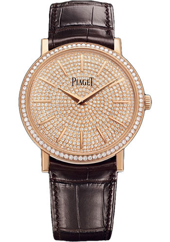 Piaget Watches - Altiplano Ultra-Thin - Mechanical - 38 mm - Rose Gold - Style No: G0A38141