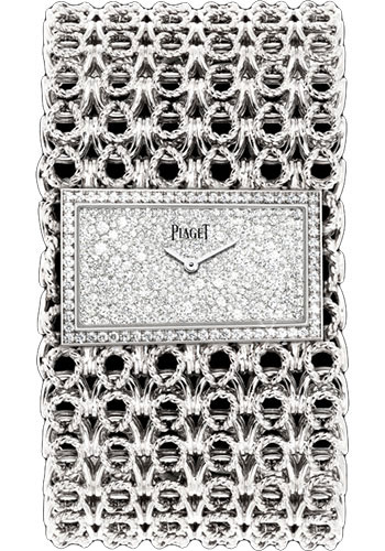 Piaget Watches - Limelight Precious Couture Cuff - White Gold - Style No: G0A38211