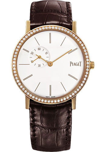 Piaget Watches - Altiplano Ultra-Thin - Mechanical - 34 mm - Rose Gold - Style No: G0A39107