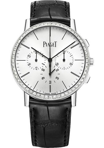 Piaget Watches - Altiplano Ultra-Thin - Chronograph - 41 mm - White Gold - Style No: G0A40031