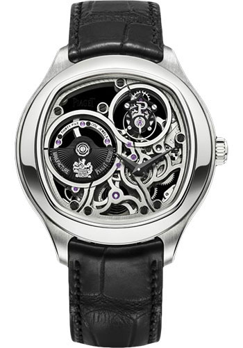 Piaget Watches - Black Tie Emperador Cushion-Shaped - Tourbillon - 46.5 mm - Style No: G0A40041