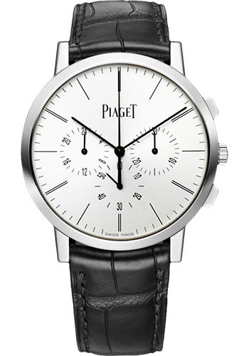 Piaget Watches - Altiplano Ultra-Thin - Chronograph - 41 mm - White Gold - Style No: G0A41035