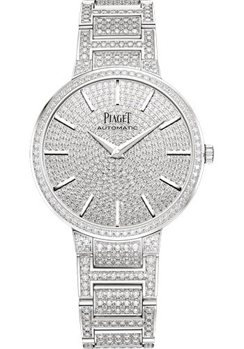 Piaget Watches - Altiplano Ultra-Thin - Mechanical - 34 mm - White Gold - Style No: G0A41128