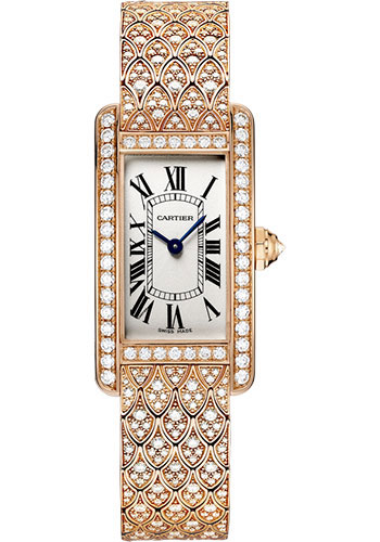Cartier Watches - Tank Americaine Small - Pink Gold - Style No: HPI00619