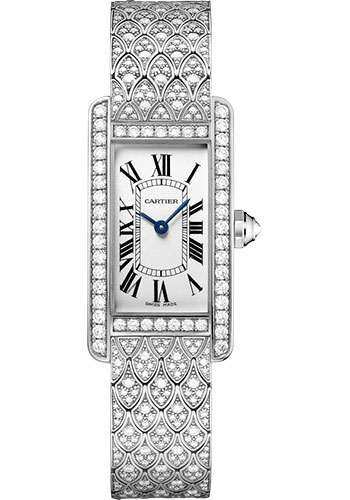 Cartier Watches - Tank Americaine Small - White Gold - Style No: HPI00620