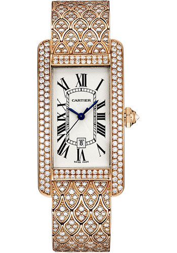Cartier Watches - Tank Americaine Medium - Pink Gold - Style No: HPI00621