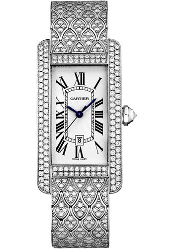 Cartier Watches - Tank Americaine Medium - White Gold - Style No: HPI00622