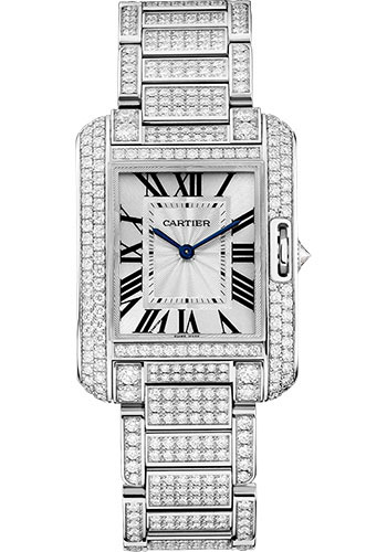 Cartier Watches - Tank Anglaise White Gold With Diamonds - Style No: HPI00722