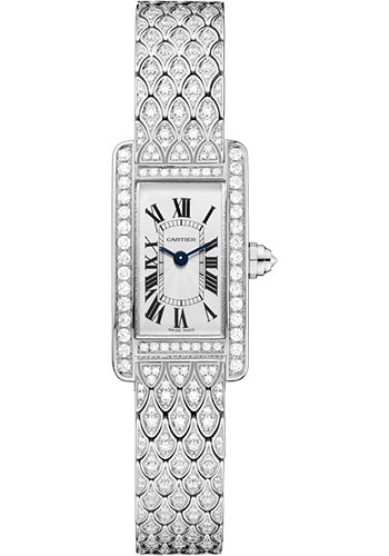 Cartier Watches - Tank Americaine Mini - White Gold - Style No: HPI00724