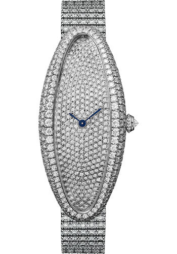 Cartier Watches - Baignoire Allongee Medium - White Gold - Style No: HPI01306