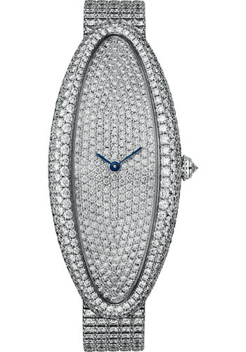 Cartier Watches - Baignoire Allongee Extra Large - White Gold - Style No: HPI01307