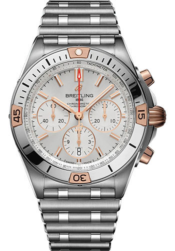 Breitling Watches - Chronomat B01 42 Steel and Red Gold - Metal Bracelet - Style No: IB0134101G1A1