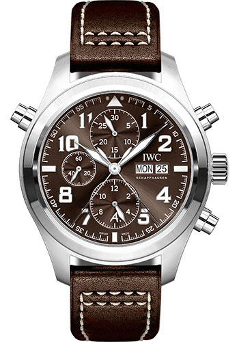 IWC Watches - Pilots Watch Double Chronograph Edition Antoine de Saint Exupery - Style No: IW371808
