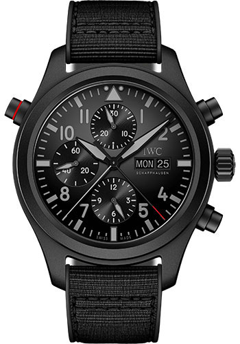 IWC Watches - Pilots Watch Double Chronograph TOP GUN Ceratanium - Style No: IW371815