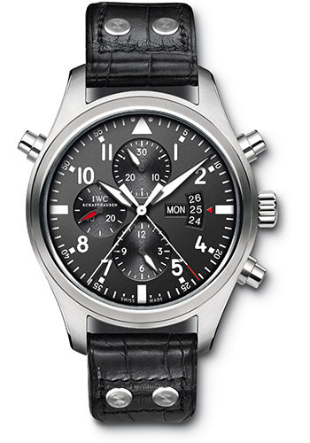 IWC Watches - Pilots Watch Double Chronograph - Style No: IW377801