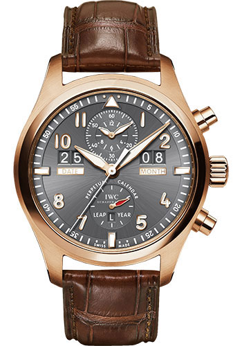 IWC Watches - Pilots Watch Spitfire Perpetual Calendar Digital Date-Month - Style No: IW379105