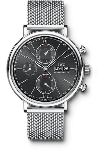 IWC Watches - Portofino Chronograph - Stainless Steel - Style No: IW391010