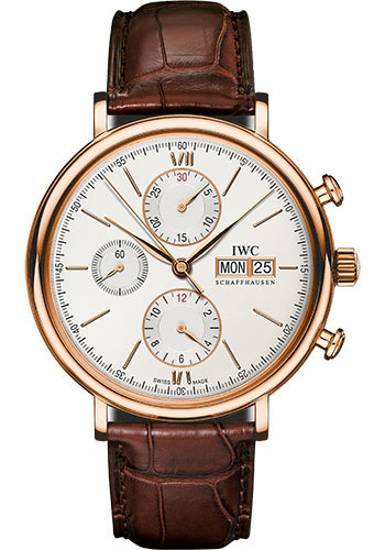 IWC Watches - Portofino Chronograph - Red Gold - Style No: IW391020