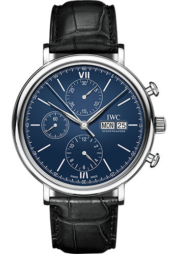 IWC Watches - Portofino Chronograph - Stainless Steel - Style No: IW391023