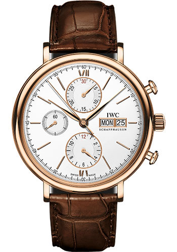 IWC Watches - Portofino Chronograph - Red Gold - Style No: IW391025