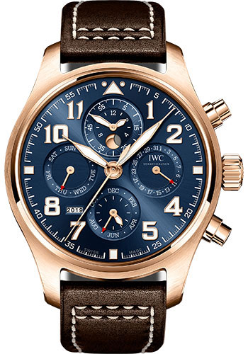 IWC Watches - Pilots Watch Perpetual Calendar Chronograph Edition Le Petit Prince - Style No: IW392202