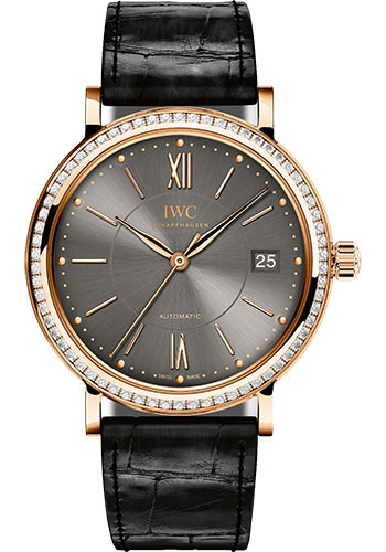 IWC Watches - Portofino Automatic - Midsize - Red Gold - Style No: IW458108