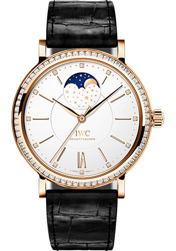 IWC Watches - Portofino Automatic Moon Phase 37 - Red Gold - Style No: IW459009