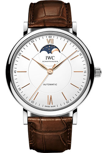 IWC Watches - Portofino Automatic Moon Phase 40 - Stainless Steel - Style No: IW459401