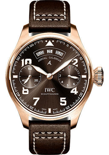 IWC Watches - Pilots Watch Big Pilots Annual Calendar Edition Antoine de Saint Exupery - Style No: IW502706