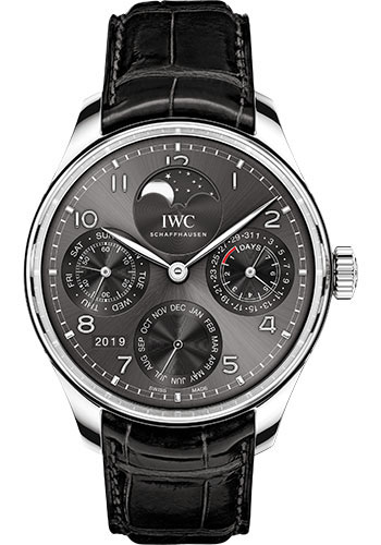 IWC Watches - Portuguese Perpetual Calendar - White Gold - Style No: IW503301