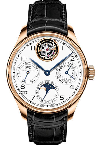 IWC Watches - Portuguese Perpetual Calendar Tourbillon - Red Gold - Style No: IW504501