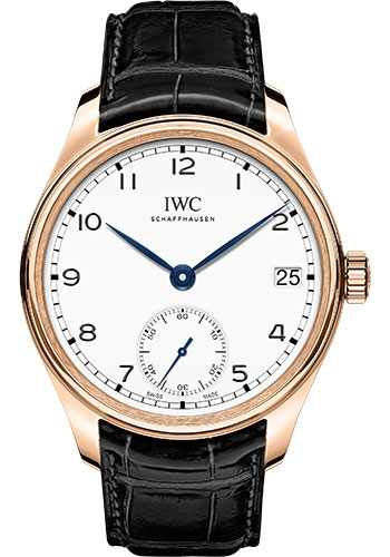 IWC Watches - Portuguese Hand-Wound Eight Days - Red Gold - Style No: IW510211