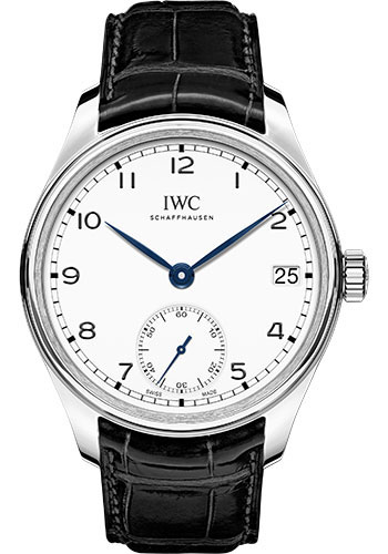 IWC Watches - Portuguese Hand-Wound Eight Days - Stainless Steel - Style No: IW510212