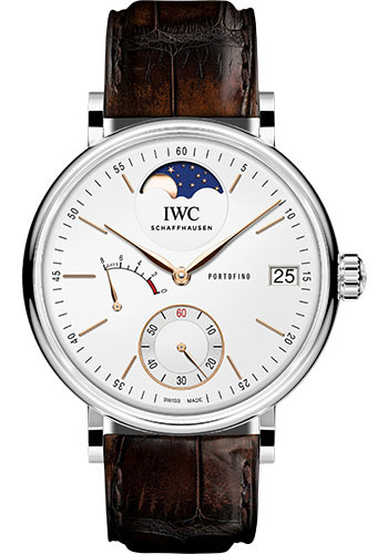 IWC Watches - Portofino Hand-Wound Moon Phase - Stainless Steel - Style No: IW516401