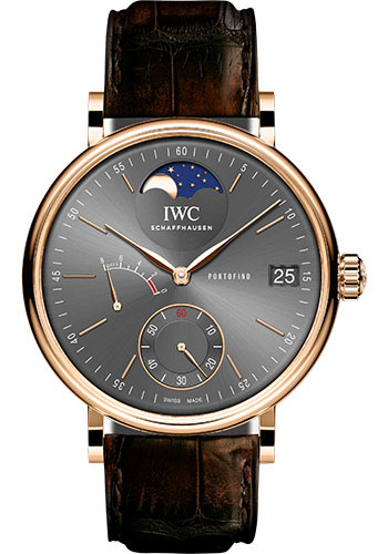 IWC Watches - Portofino Hand-Wound Moon Phase - Red Gold - Style No: IW516403